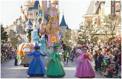 A magia de um desfile na Disneyland